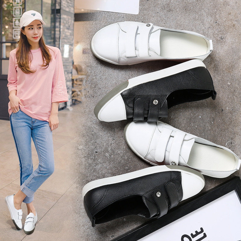 Shallow Flat Women Sneakers Comfortable Summer Casual Leather Canvas Shoes Breathable Black Slip-on Vulcanize Shoes Female