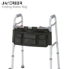 JayCreer складная сумка для ходунков, Боковая Сумка для инвалидных колясок, сумка для рулонов, органайзер для кровати, изолированный держатель для бутылки, длинный держатель для ключей