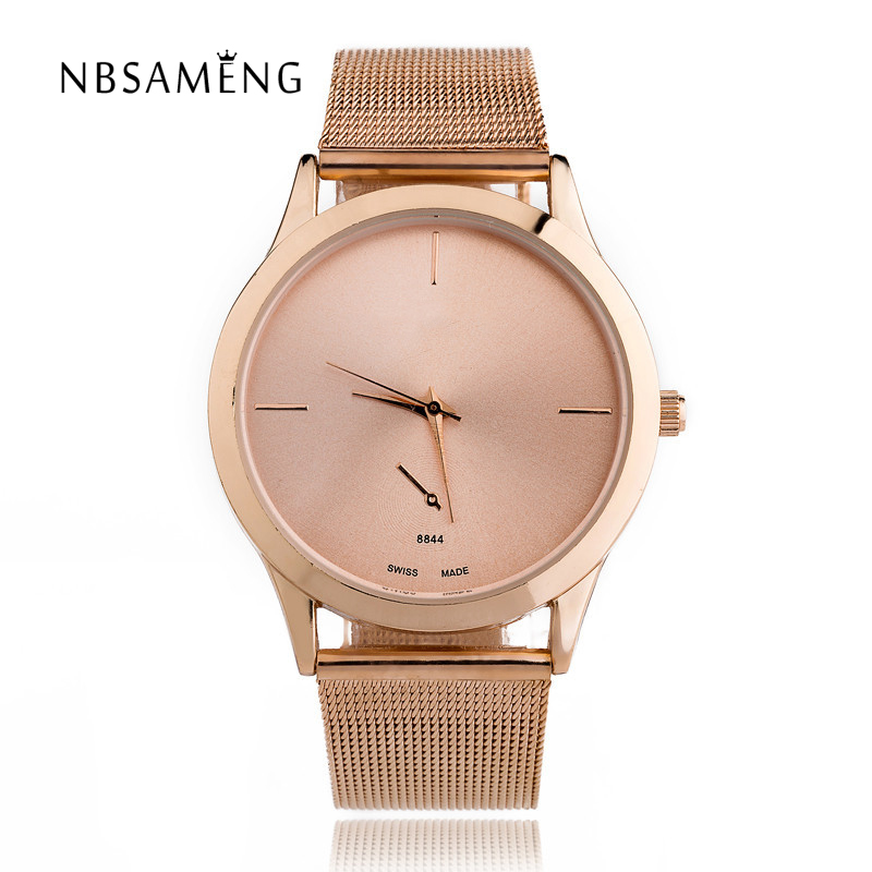 Luxury Gold Watch 2017 New Fashion Lovers Men Women Quartz Watches Rose Gold Stainless Steel Relogio Feminino Dress Clock LZ2169 new luxury brand dqg crystal rosy gold casual quartz watch women stainless steel dress watches relogio feminino clock hot sale