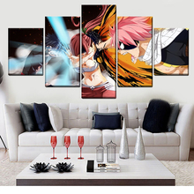 Home Decoration Canvas Printed 5 Pieces Poster Animation Fairy Tail Painting Modern Wall Art Pictures Living Room Modular Frame