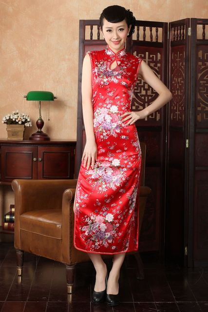 Fashion Womenvestidos Cheongsam Dress Vintage Qipao Cheongsam Evening Dress  Chinese Traditional Dress Multicolor Plus Size S 592fc94e6037