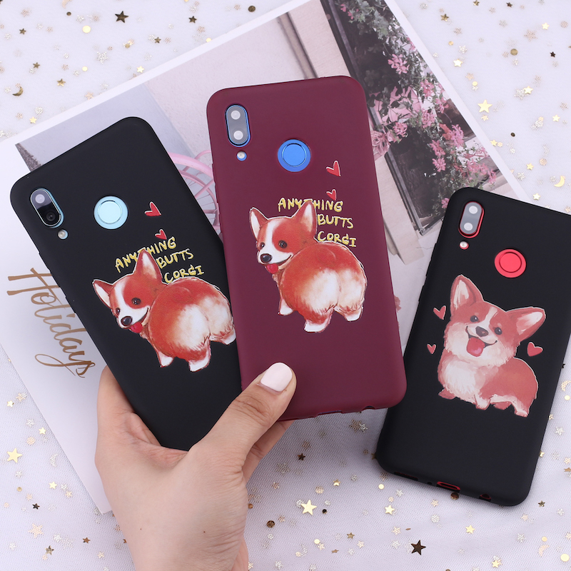 For <font><b>Xiaomi</b></font> <font><b>Mi</b></font> Redmi Note 5 6 7 8 9 lite Pro Plus Corgi Husky <font><b>Pug</b></font> Puppies Candy Silicone Phone Case <font><b>Cover</b></font> Capa Fundas Coque image