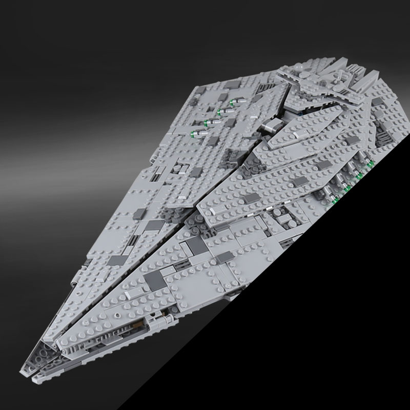 Lepin 05131 Stars Series war the First order Star Model Destroyer Set 1585PCS compatible 75190 Building Blocks Bricks Toy Gift rollercoasters the war of the worlds