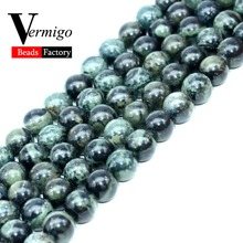цена на Natural Stone Beads Rhyolite Jaspers Round Loose Beads For Jewelry Making 6 8 10mm Diy Bracelet Necklace Spacer Pearl Beads 15'