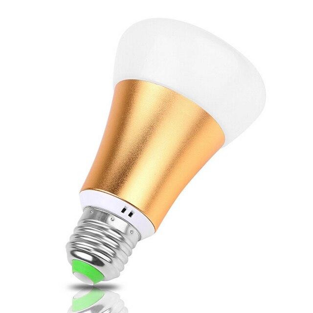 energiebesparing e27 10 w rgb led gloeilamp met afstandsbediening multi color led verlichting ac85