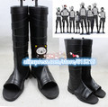 Naruto Neenya anbu Kakashi Ninja Black pu Leather Shoes Halloween Naruto Cosplay Costume boots