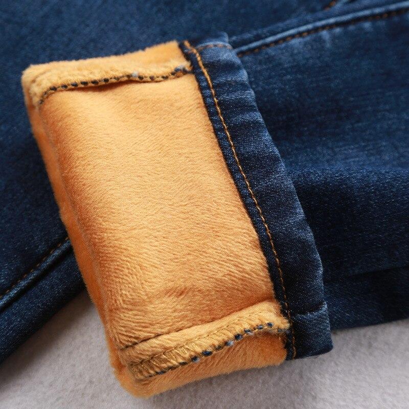 Invierno Jeans Las Pantalon azul Lápiz Slim Azul Diseño Largo Mujer Tamaño Plus Pantalones De Caliente Pantalón 5xl Mujeres Negro Casual Negro Lana Femme qRB4xvtY