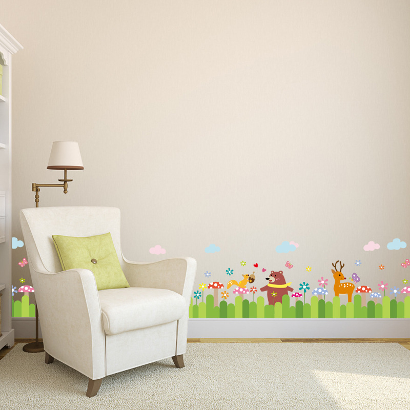 In Stock Cartoon Animals Wall Decals Adhesive Vinyl Wallpapers - Vinyl wall decal adhesive