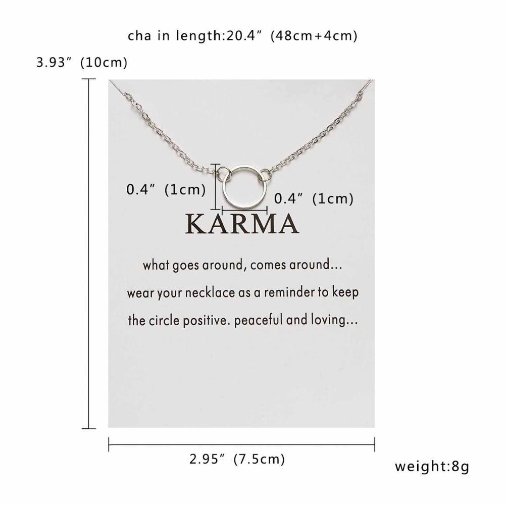Rinhoo Karma, Двойная Цепочка, круглое ожерелье, золотое ожерелье с подвеской, модные цепочки на ключицы, массивное ожерелье, Женские Ювелирные изделия - Окраска металла: 8
