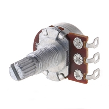 цена на B10K Potentiometer Splined Pot Electric Guitar Bass Effect Amp Tone Volume 18mm Shaft Parts