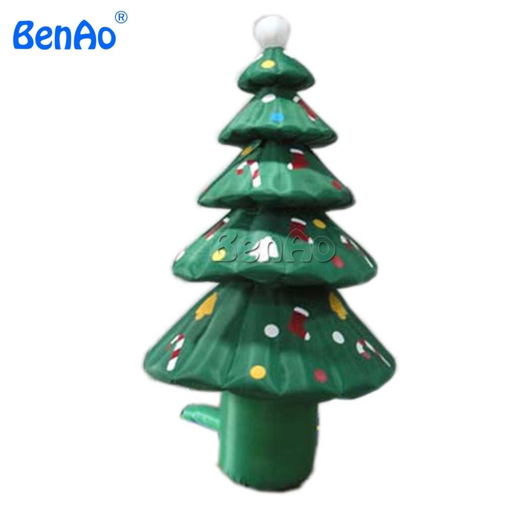 X104 Free shipping BENAO popular inflatable Christmas Xmas santa Tree for outdoors decoration newest xmas decorations inflatable christmas band with santa deer snowman and penguin inflatable quartet