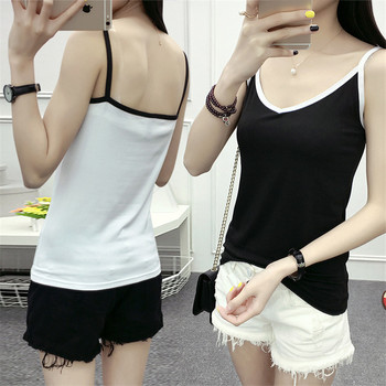 Women Camisole 2019 Summer Style Sleeveless Vest Sexy Ladies Modal V-neck Camis Backless Casual Top Mujer  W19043001