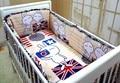 Promotion! 6PCS Baby Cradle Crib Bedding Set,Kids Crib Set Custom Crib Bedding ,include(bumper+sheet+pillow cover)