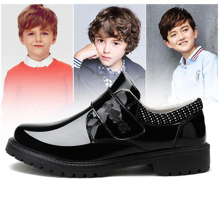 Charol Zapatos Niños Negro De Babaya Clásico Uniforme Cuero xwpOqCTB
