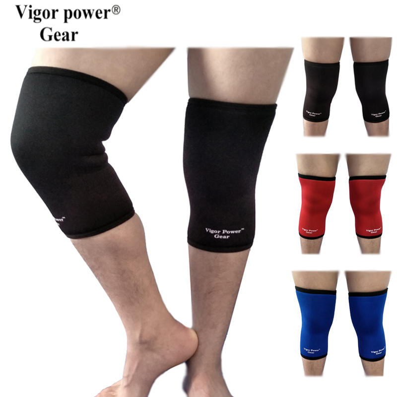 Vigor Power Gear7mm neoprene knee sleeves weight lifting knee sleeves crossfit power lifting knee pads for athletes bodybuilding ...