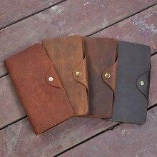 Mens Vintage Wallet, long, crazy horse, long wallet, high-end business wholesale direct sale 001