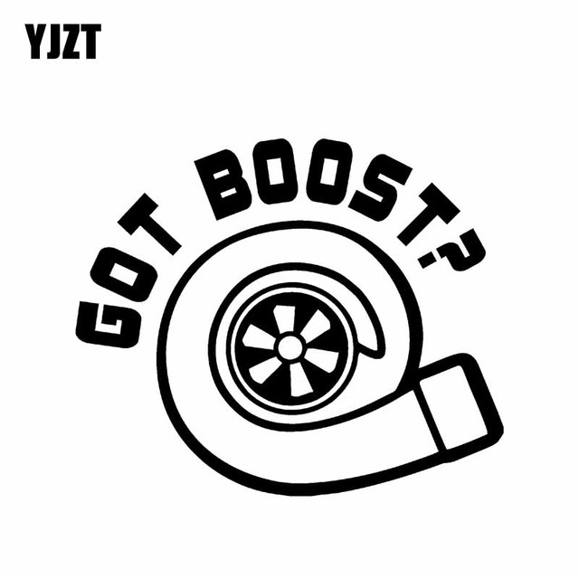 Yjzt 14 8cm12 3cm Got Boost Vinyl Decal Car Sticker Turbo Diesel