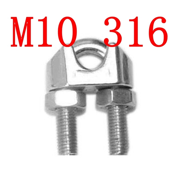 M10,10mm STAINLESS STEEL WIRE ROPE GRIP CLIP CABLE CLAMP SS 316-in ...