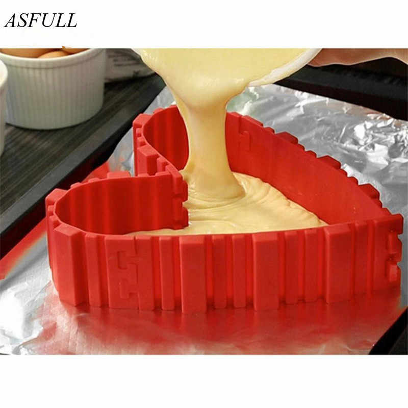 Asfull 4 шт./компл. инвентарь змеи для волшебной выпечки пищевого класса силиконовые формы для торта Выпекать diy все виды выпечки пресс-формы для торта