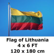 Lithuania Flag 4X6FT 120 x 180 cm Yellow Green Red 100D Polyester Large Big Lithuanian Flags And Banners