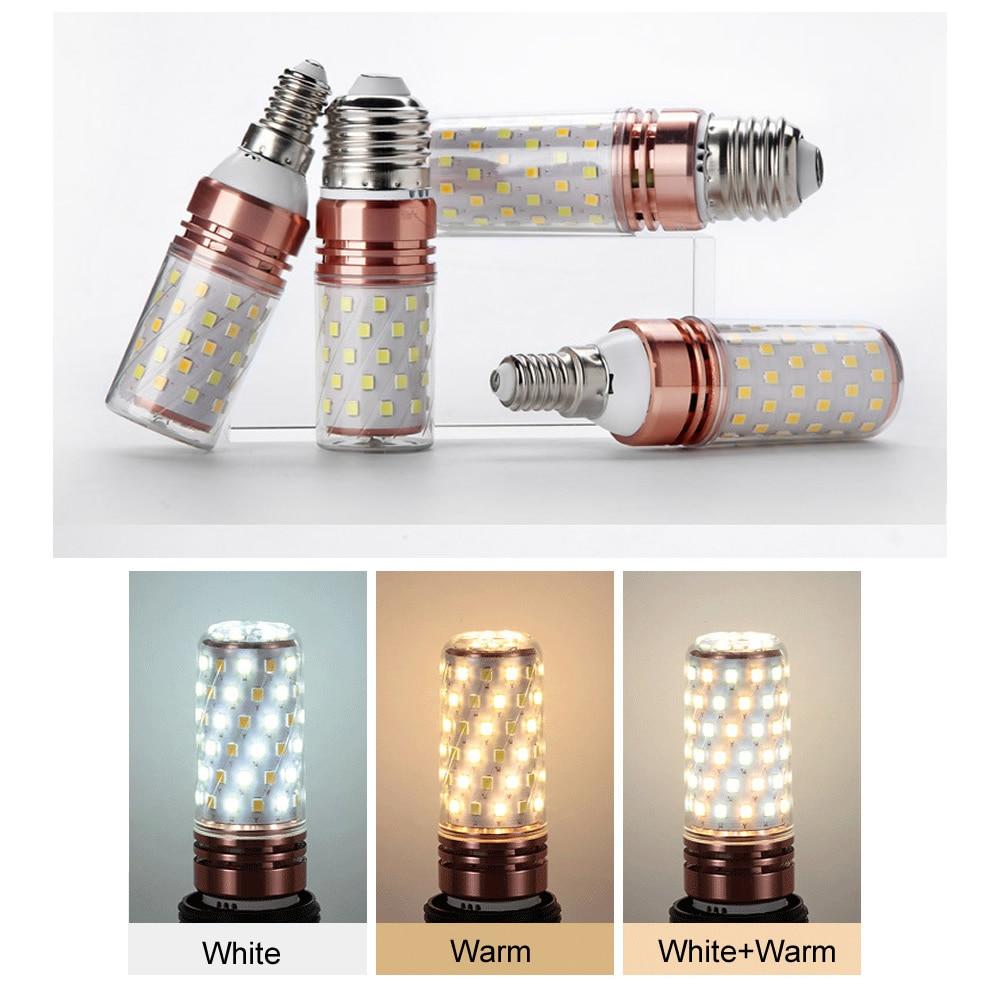 E12 E14 E27 LED Corn Bulb 12W LED spotlight Cool White Warm White Daylight 3 Modes Color Change 3 Color in 1 LED light in LED Bulbs Tubes from Lights Lighting
