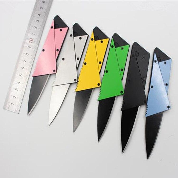 1 ADET 6 Renk Cep Bıçak Eklemek Kabzası Katmanlı Çelik Plaka Mini Cüzdan Kredi Kartı Bıçak Katlanır Bıçak Çok Fonksiyonel bıçak