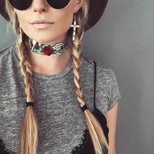 Летом Новые модные аксессуары и украшения Змеиной цветок choker ожерелье для пара влюбленных N354