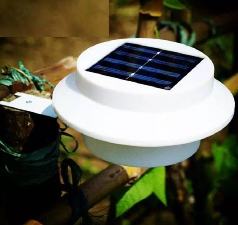 Solar Powered 3 LED Outdoor Lights Lamp Fence Gutter Roof Yard Wall Garden light Outdoor Lighting Led Solar Light