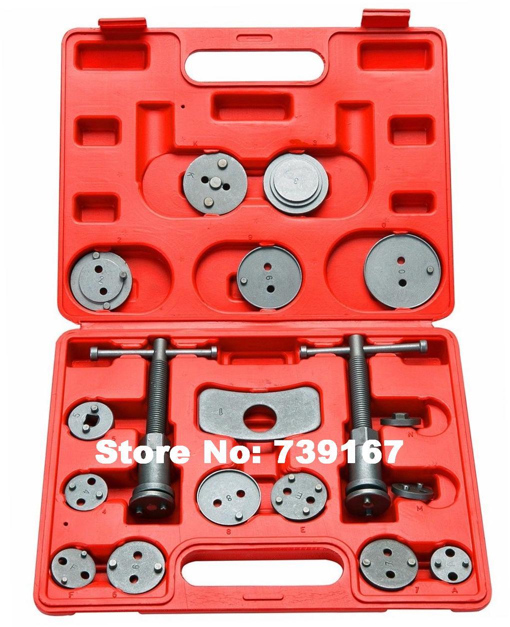 18 pièces voiture frein étrier Pad Piston rembobinage retour réparation outil de retrait Auto Garage outils pour Ford volkswagen Mercedes ST0143