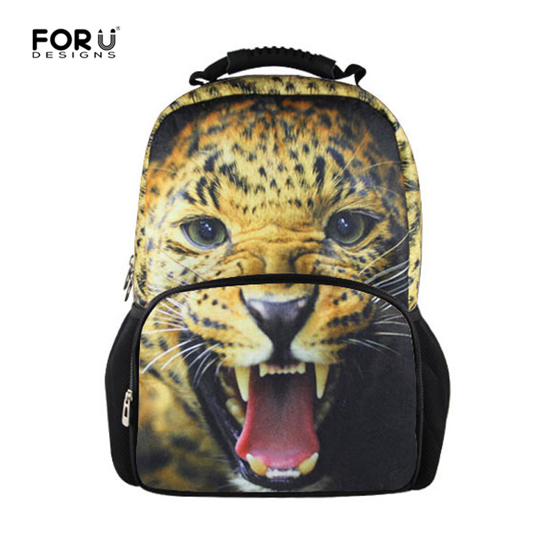 3D Animal Backpack for Men Women Teen Boys Girls Owl Tiger Printing Backpacks Laptop Children Travel