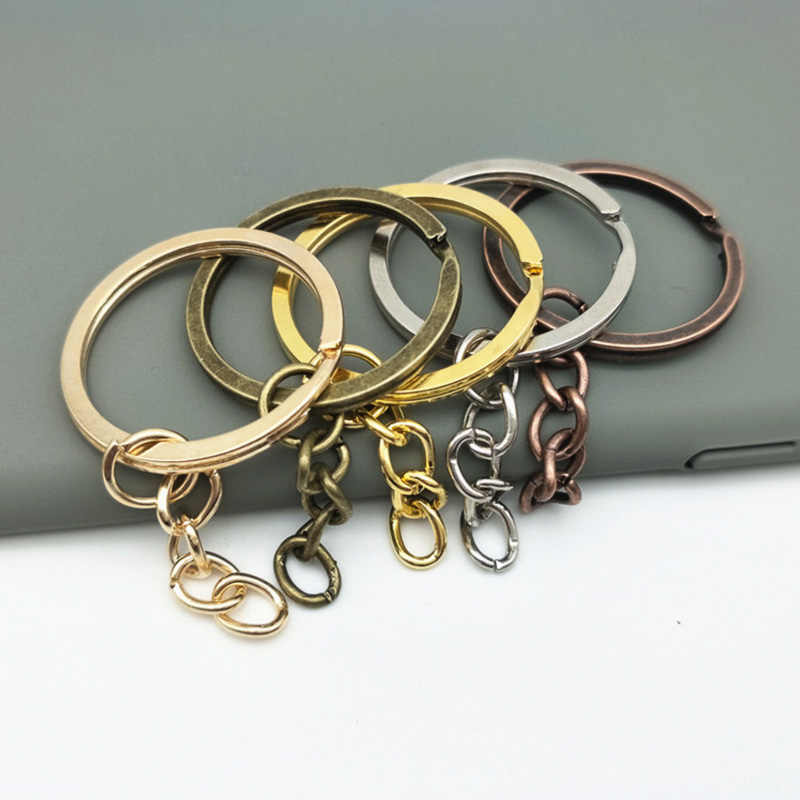 Wholesale 10pcs/lot Metal Key Rings Key Chains with Lobster Clasps Gold/Rhodium Color Tone Keyrings Split Rings KeyChains