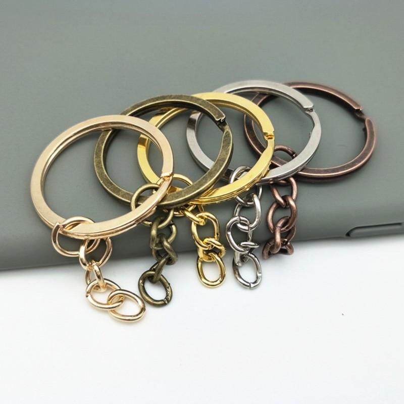 Flower shape key ring,10pcs *42mm silver Cute Key Fob Ring Metal Split Ring for Key Chain Wholesale Key Ring Findings