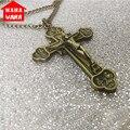 Bronze/Red Copper 12 Apostles Jesus Cross Necklace Pendant Crucifix Cross Jesus Piece Necklace&Pendants Men/Woman Jewelry