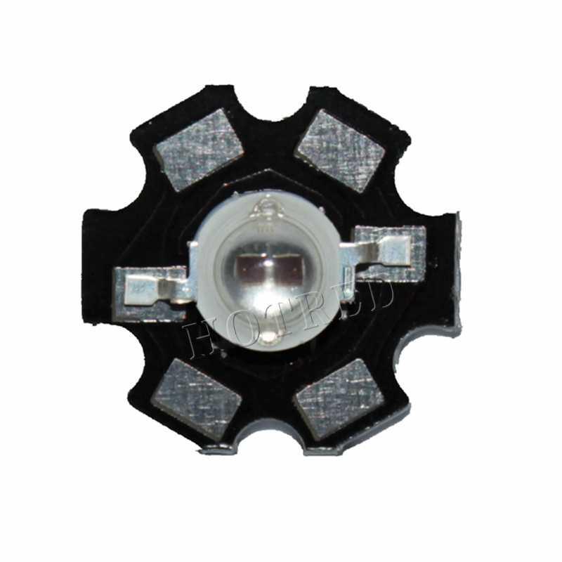 10pcs 3W Led Diode 3W 5W Light 2 Chips 3W 5W led diode Emitter Blue 450nm UV Diode 395nm IR 730nm 740nm high power UV lamp PCB