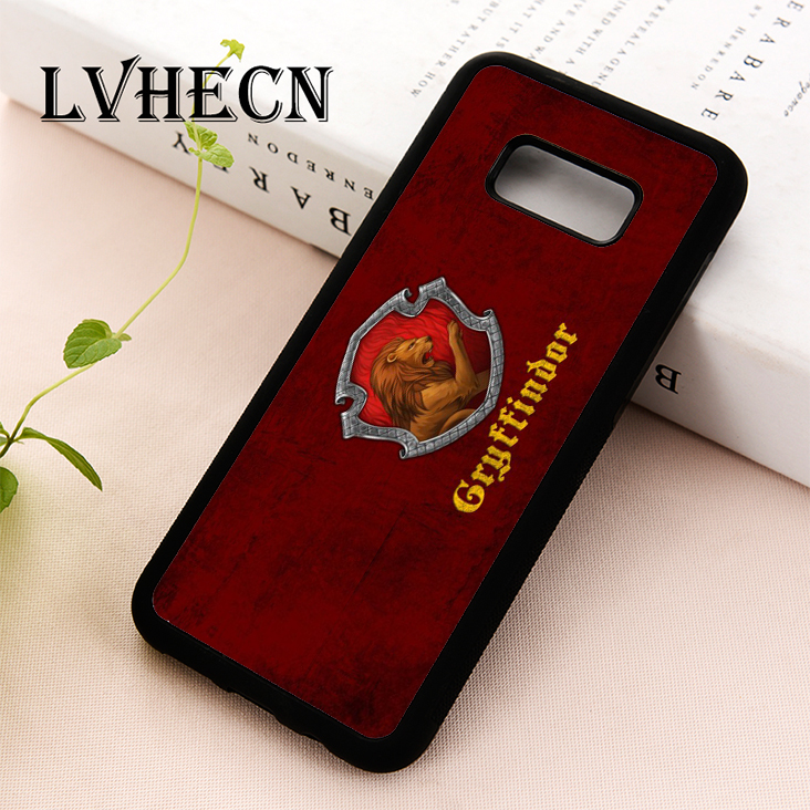 LvheCn phone <font><b>case</b></font> cover for Samsung Galaxy S5 S6 S7 S8 S9 S10 EDGE PLUS S10e Note 5 <font><b>8</b></font> 9 <font><b>Harry</b></font> <font><b>Potter</b></font> Hogwarts Gryffindor Crest image