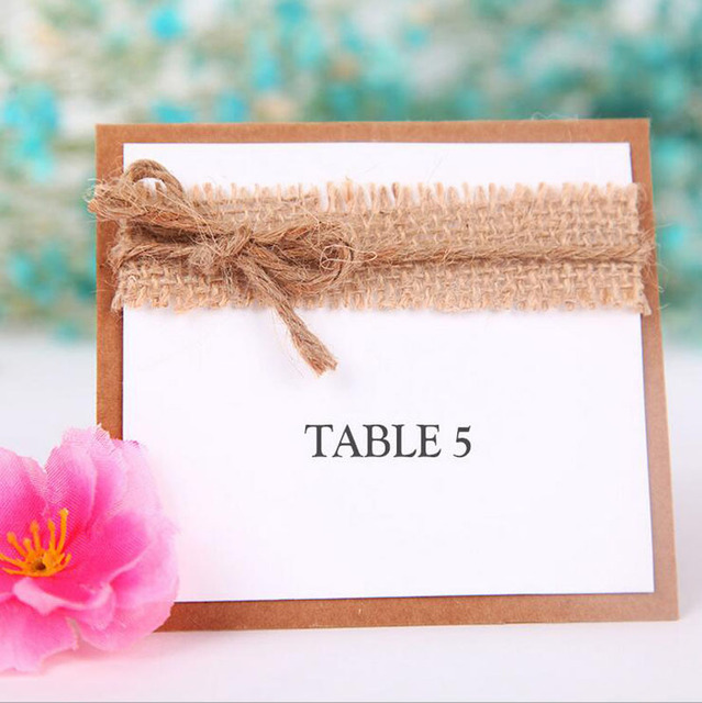 50pcslot Vintage Wedding Seating Card Kraft Table Cards For Chic