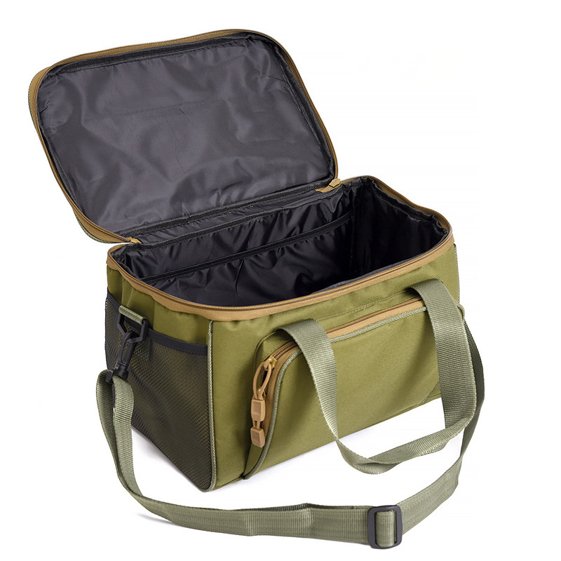 Image 3 - Large Waterproof Fishing Tackle Bag Case Bait Box Shoulder Strap Pocket Fishing Gear Canvas Bag three color optional-in Fishing Bags from Sports & Entertainment