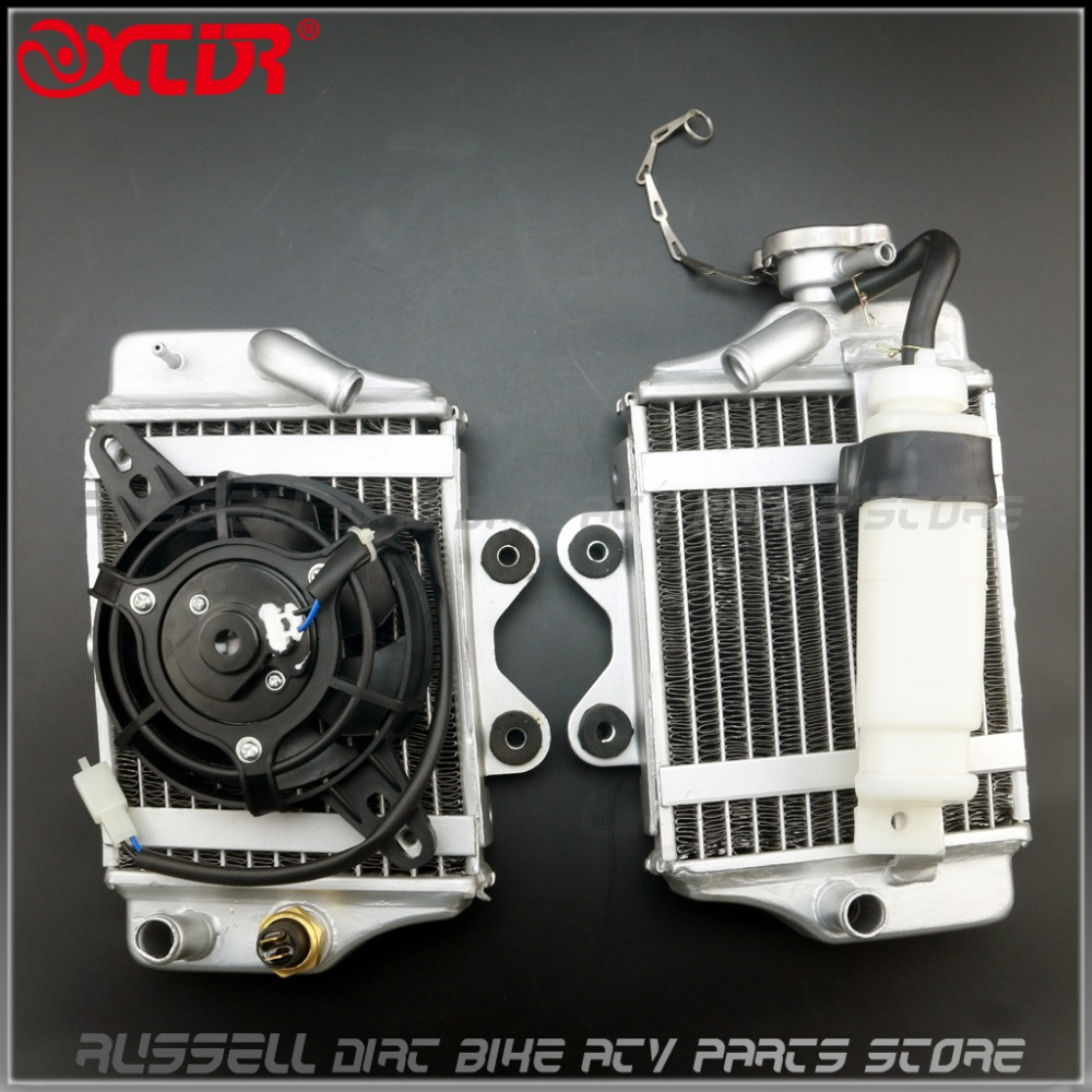 Water cooling engine radiator with fan for Xmotos Apollo Motorcycle Zongshen Loncin Lifan 150cc 200cc 250cc