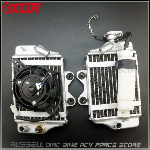 US $56 39 6% OFF|Water cooling engine radiator with fan for Xmotos Apollo  Motorcycle Zongshen Loncin Lifan 150cc 200cc 250cc engine Accessories-in