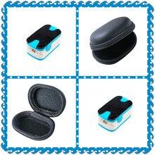 Синий Цвет OLED Нажатием Пульсоксиметр С Звуковая Сигнализация и Pulse Sound-Spo2 Монитор Finger Пульс Оксиметр + Черный случае