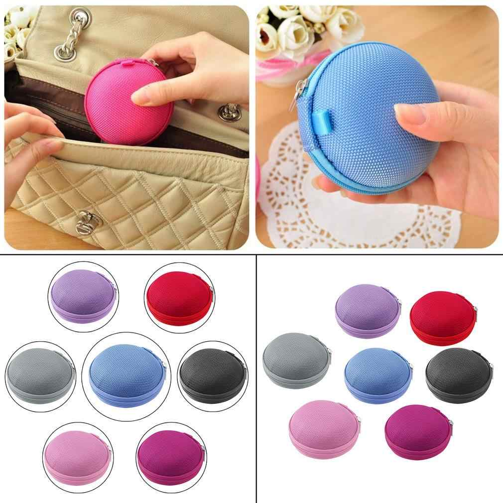 7 Colors PU leather Zipper Protective Headphone case Pouch Earphone Storage bag Soft Headset Earbuds box Usb cable organizer