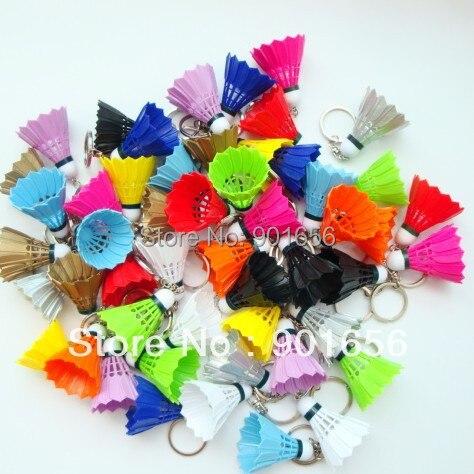 Free Shipping(50pcs/lot)fashional Silicone Key Chain Colorful Badminton