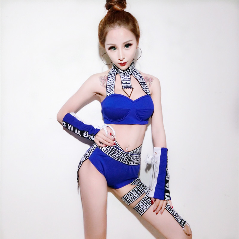 DS Costumes Nightclubs DJ Female Stage Dance Costume For Singers Tops And Shorts Set Korean Hiphop Jazz Team Dance Costume