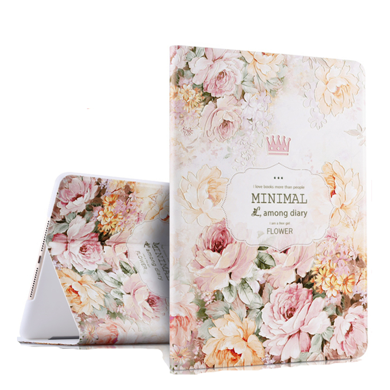 For Apple iPad Pro 10.5 2017 Case 3D Floral PU Leather Auto Wake up Sleep Tablet Cover for iPad Pro 10.5 inch A1701 A1709 Coque hmsunrise for ipad 10 5 case luxury leather case for apple ipad pro 10 5 inch 2017 tablet with stand function auto sleep wake up