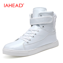 Новый Мужские зимние ботинки модные Лакированная кожа Мужская обувь Теплая обувь пух Сапоги и ботинки для девочек Для мужчин S резиновые сапоги для дождя Botas masculino MQ577