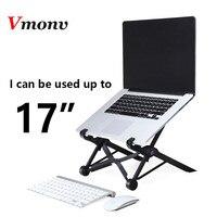 Vmonv Portable Folding Laptop Stand Houder voor Lenovo Dell Acer Macbook Hoogte Verstelbare Tablet Notebook Cooling Lapdesk Stand
