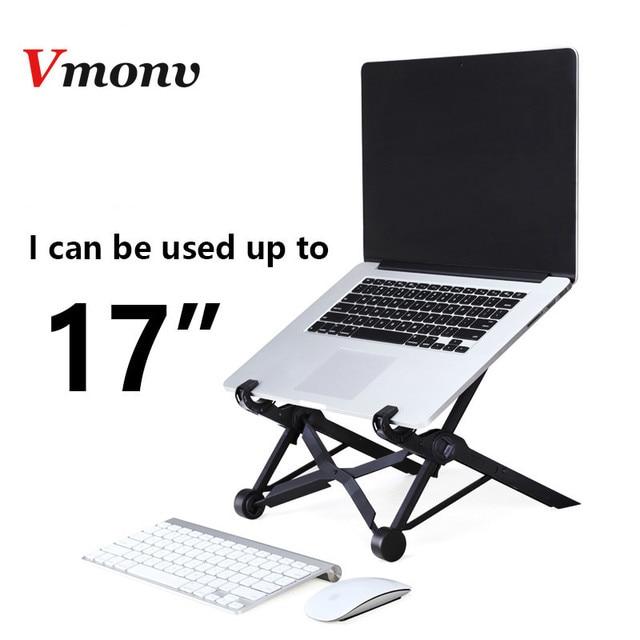 Vmonv נייד מתקפל נייד Stand מחזיק עבור Lenovo Dell Acer Macbook גובה מתכוונן Tablet מחברת קירור Lapdesk Stand