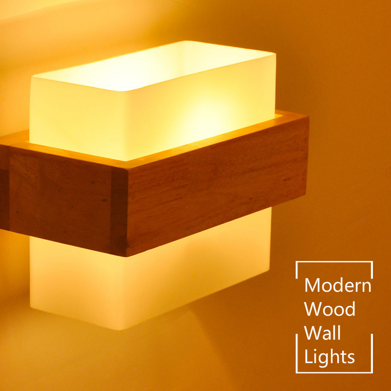 Wall Lamps Northern Europe Style Wood LED Wall Light Lamps for Home Lighting Living Room Wall Sconce indoor lighting IY121751