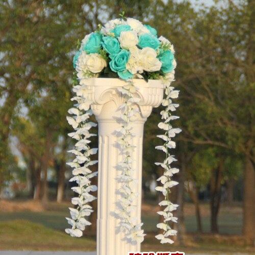 Свадебные композиция Диаметр Цветок свадебное оформление букета цветок для дорожного свинец римская колонна 4 шт./лот - Цвет: 1