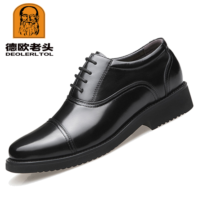 2019 nouvellement hommes qualité en cuir véritable chaussures taille sociale 36-47 Top tête en cuir automne bureau chaussures doux homme robe chaussures
